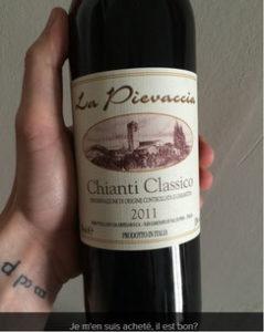 Bouteille de Chianti Classico 2011 avec indication pour choisir un vin