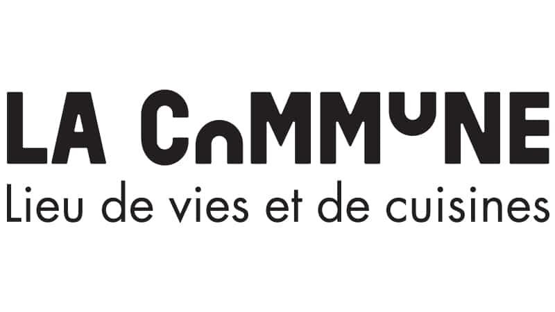 """Logo de LA COMMUNE """"LA COMMUNE Lieu de vies et de cuisines"""""""